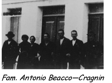 Famiglia Antonio Beacco - Cragnin