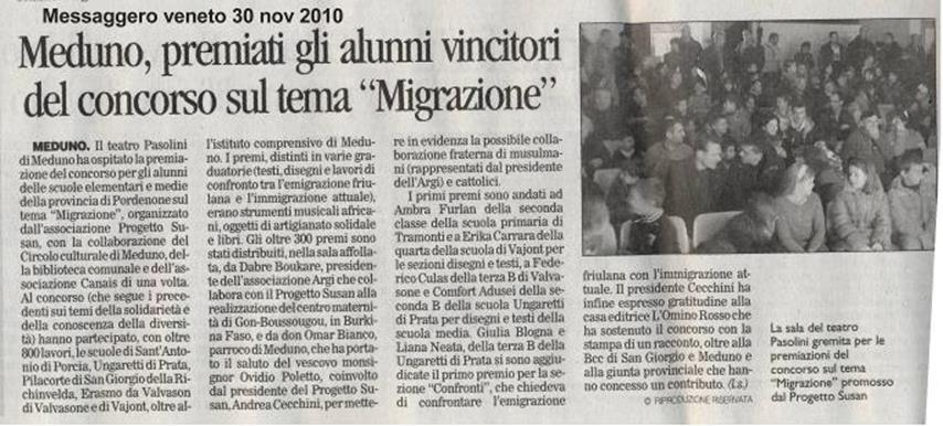 Messaggero Veneto 30/11/2010