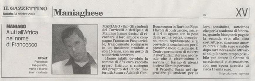 Il Gazzettino 23/10/2010