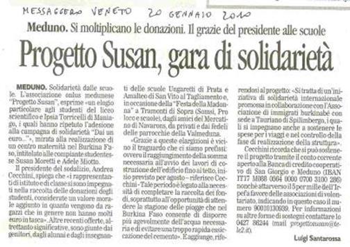 Messaggero Veneto 20/01/2010