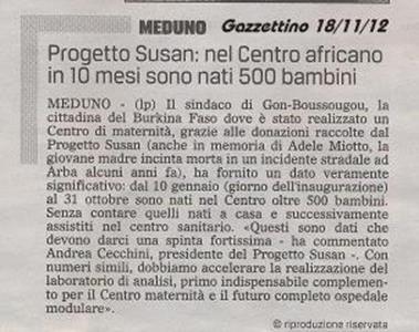 Il Gazzettino 18/11/2012