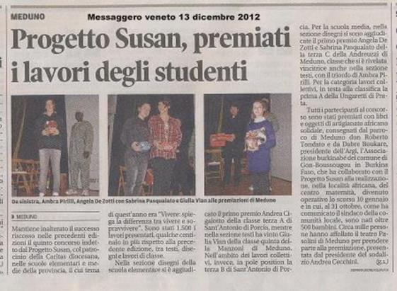 Messaggero Veneto 13/12/2012