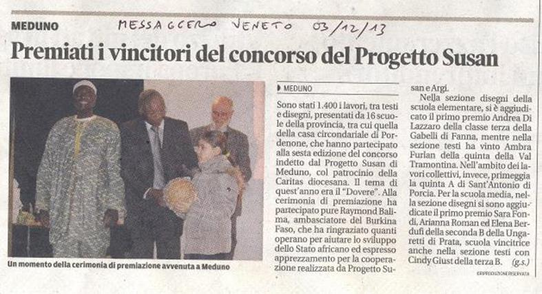 Messaggero Veneto 03/12/2013