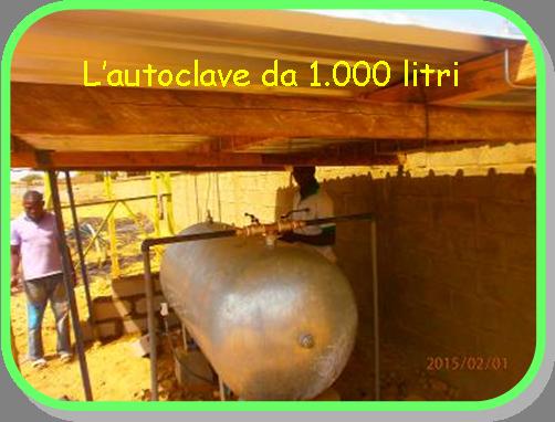 Autoclave da 1.000 litri in sostituzione del serbatoio crollato