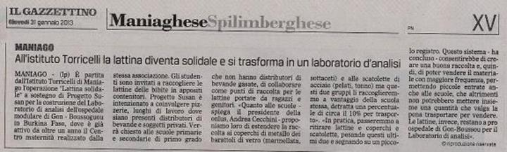 Il Gazzettino 21/01/2013