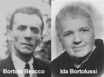 Bortolo Beacco e Ida Bortolussi