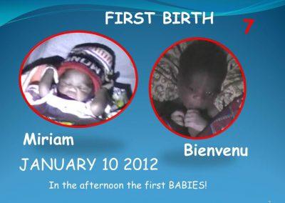 First birth!
